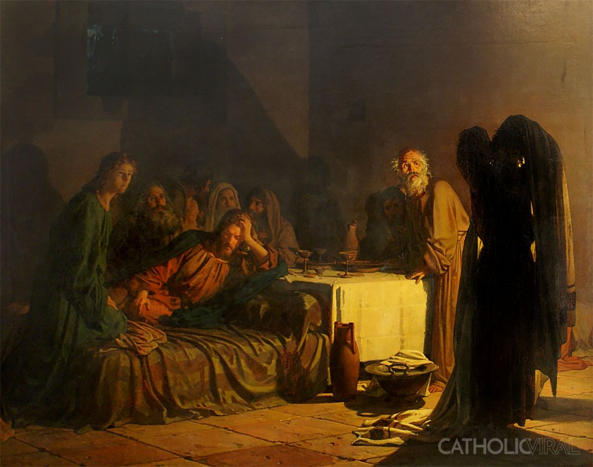 Last Supper - Nikolai Nikolaevich Ge -54 Paintings of the Passion, Death and Resurrection of Jesus Christ