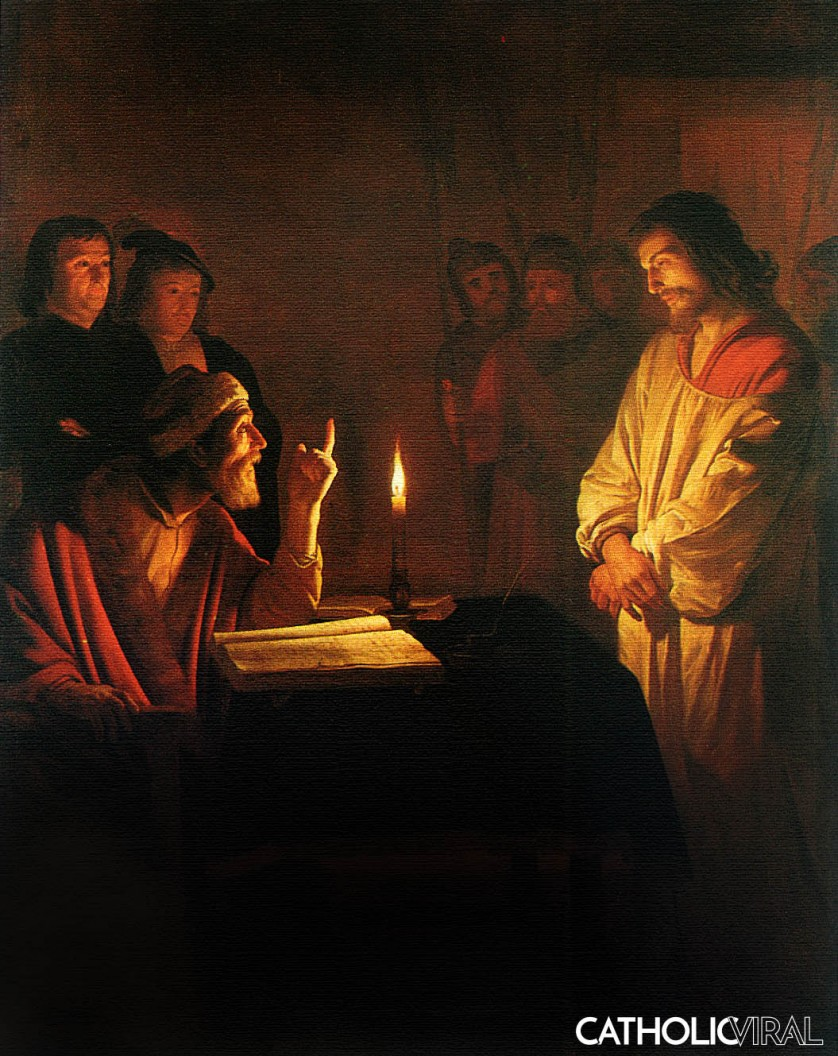 Christ before the High Priest - Gerrit van Honthorst - 54 Paintings of the Passion, Death and Resurrection of Jesus Christ