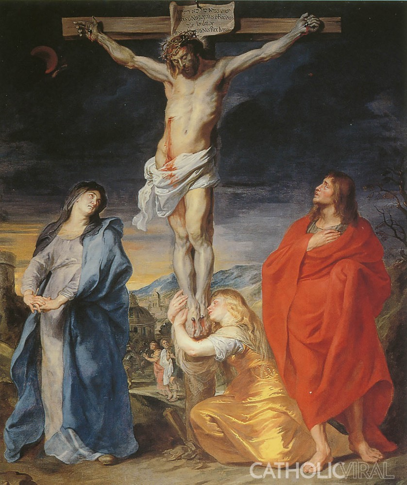 Crucifixion Anthony van Dyck - 54 Paintings of the Passion, Death and Resurrection of Jesus Christ