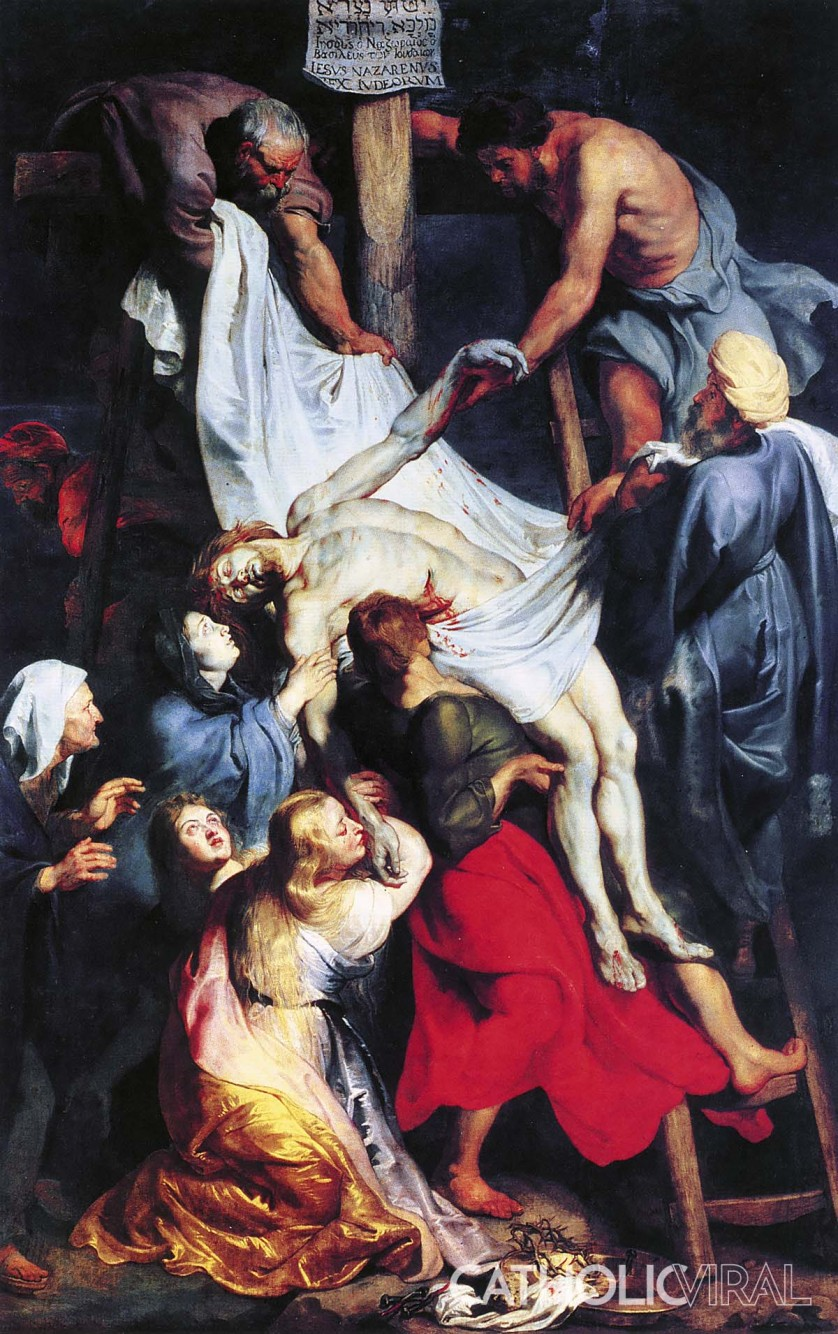 Descent from the Cross - Rubens - 54 Paintings of the Passion, Death and Resurrection of Jesus Christ